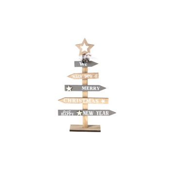 Cosy @ Home Kerstboom Natuur Hout 21x5xh35