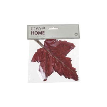 Cosy @ Home Herfstbladeren Set12 Bordeaux Kunststof