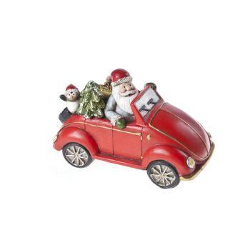 Cosy @ Home Auto Rood Keramiek 15,5x8xh10 Santa