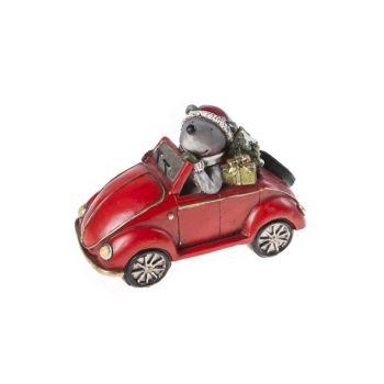 Cosy @ Home Auto Rood Keramiek 15,5x8xh10,5 Bear