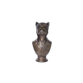 Cosy @ Home Buste Brass - Geelkoper Polyresin 15,2x1