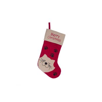 Cosy @ Home Kerstsokken Rood Wit Textiel L19 With Ca