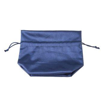 Cosy @ Home Zakje Blauw Textiel 14x8xh17cm