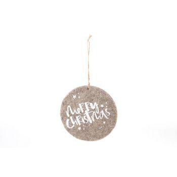Cosy @ Home Hanger Ornament  Bruin Vilt D15cm