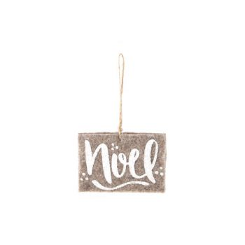 Cosy @ Home Hanger Ornament  Bruin Vilt 8x11x1cm