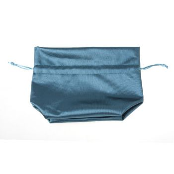 Cosy @ Home Zakje Turkoise Textiel 14x8xh17cm