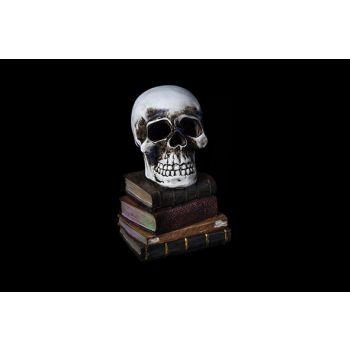 Cosy @ Home Doodskop Grijs Aardewerk 11x11xh17 Books