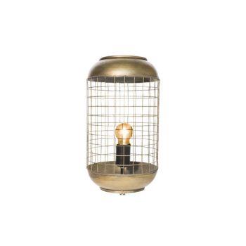 Cosy @ Home Lamp Brass - Geelkoper Rond Metaal 21x21