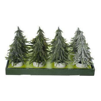 Cosy @ Home Kerstboom Set12 Groen Kunststof 15x15xh2
