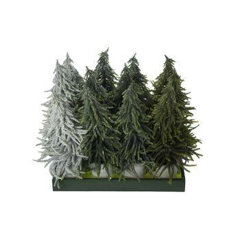 Cosy @ Home Kerstboom Set12 Groen Kunststof 20x20xh4