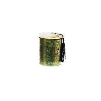 Cosy @ Home Kaars In Pot Groen Glas 9x9xh11cm