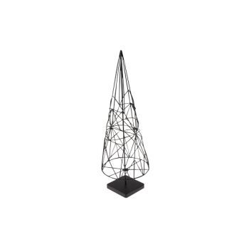 Cosy @ Home Kerstboom Kegel Metaal Zwart 11x11x32cm