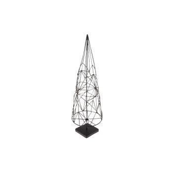 Cosy @ Home Kerstboom Kegel Metaal Zwart 12x12x38.5
