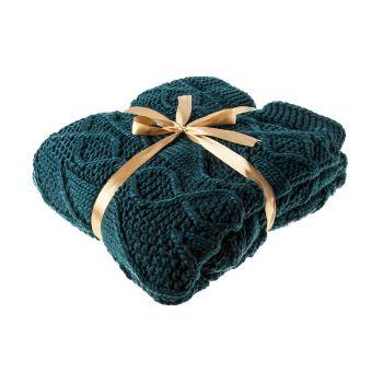 Cosy @ Home Plaid Blauw-groen Textiel 130x180cm