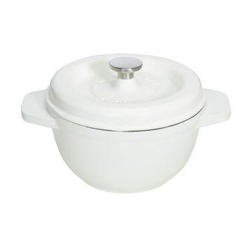 Godin Gietijzer Kookpot Wit Ro 25cm-4.0l