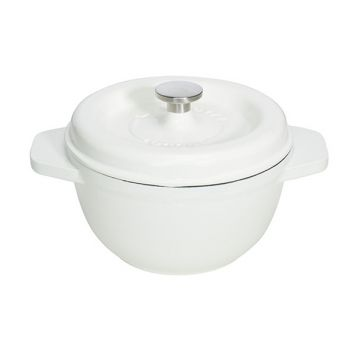 Godin Gietijzer Kookpot Wit Ro 23cm-3.0l