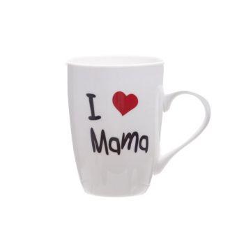 Cosy & Trendy Beker 'i Love Mama' 360ml D8,3xh10,5cm