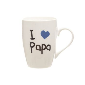 Cosy & Trendy Beker 'i Love Papa' 360ml D8,3xh10,5cm