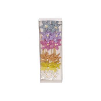 Cosy @ Home Windmolen Set12 Flowers Multi-kleur D8xh
