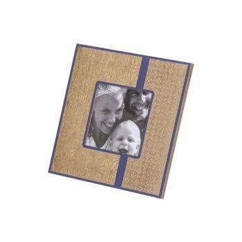 Cosy @ Home Fotokader Gold Blauw 19x1,4xh19cm Vierka