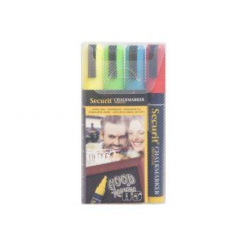 Securit Krijtstift Set4 Liquid Multi-kleur 2-6mm