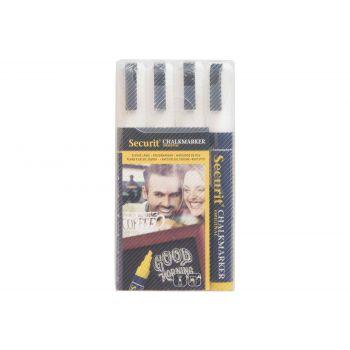 Securit Krijtstift Set4 Liquid Wit 2-6mm