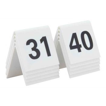 Securit Signs Set10 Tafelnummers Wit 31-40