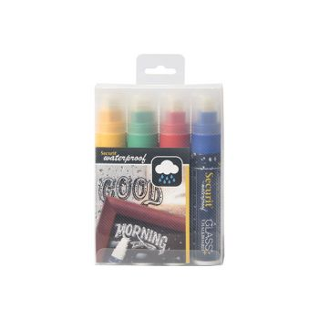 Securit Krijtstift Set4 Waterproof Multi-kleur