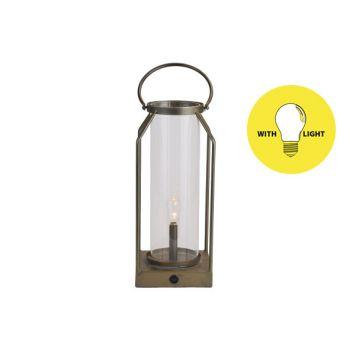 Cosy @ Home Lamp Lantern Goud 14x14xh33,5cm Metaal