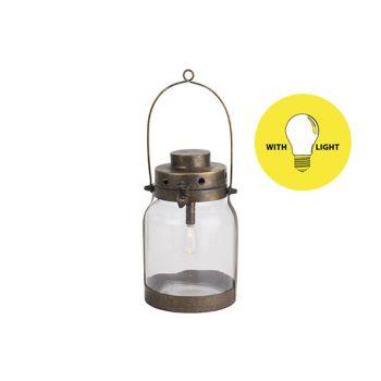 Cosy @ Home Lamp Lantern Goud 17x16xh26,5cm Metaal