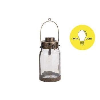 Cosy @ Home Lamp Lantern Goud 16,5x16,5xh32cm Metaal