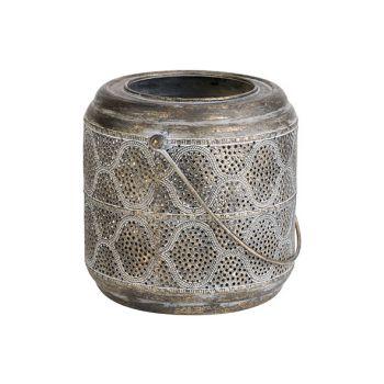 Cosy @ Home Lantaarn Lamp Goud 20,5x18,5xh18,5cm Met