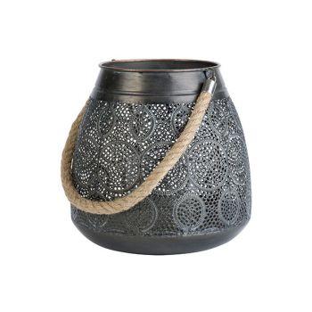 Cosy @ Home Lantaarn Maroc Antique Grijs 25x25xh25cm