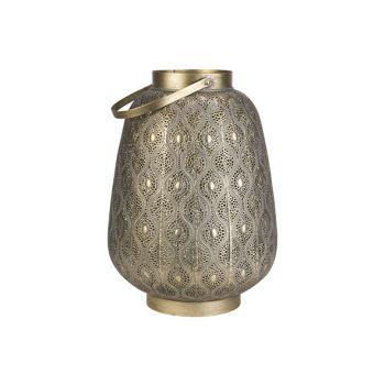 Cosy @ Home Lantaarn Maroc Goud 34x34xh47cm Metaal