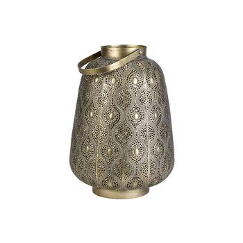 Cosy @ Home Lantaarn Maroc Goud 28x28xh25cm Metaal