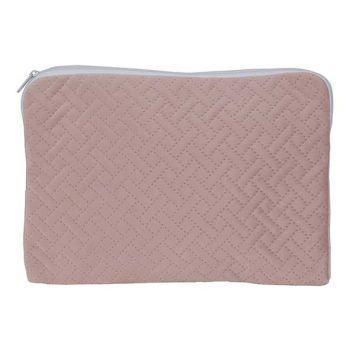 Cosy @ Home Toiletzak Velvet Cross Roze 26,5x19xh1,5