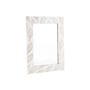 Cosy @ Home Spiegel Leafs Nature Wit 40x30xh1cm Hout