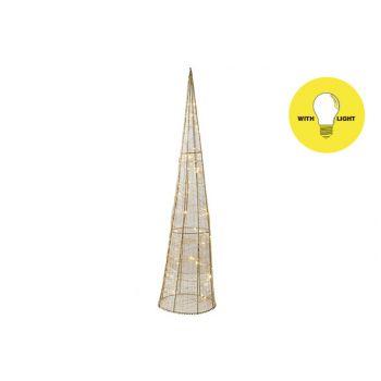 Cosy @ Home Piramide Silk 50led Ww Goud D20xh80cm Me