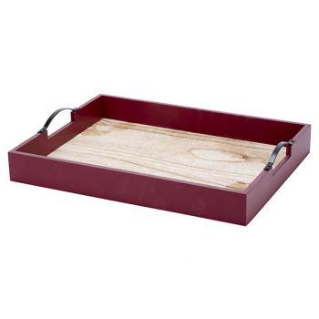 Cosy @ Home Dienblad Bordeaux 39x29xh6,4cm Hout