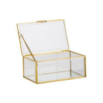 Cosy @ Home Doos Goud 15x9xh6,5cm Glas