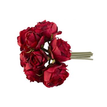 Cosy @ Home Boeket Roses Rood 30cm
