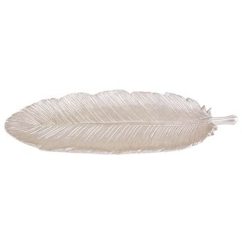 Cosy @ Home Schaal Feather Champagne 31x12xh1cm Poly