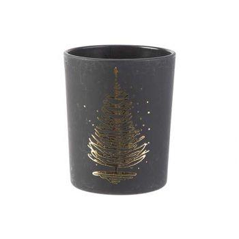 Cosy @ Home Theelichthouder Xmas Tree Gold Zwart 5,6