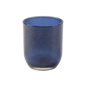 Cosy @ Home Theelichthouder Sparkle Donkerblauw 7x7x