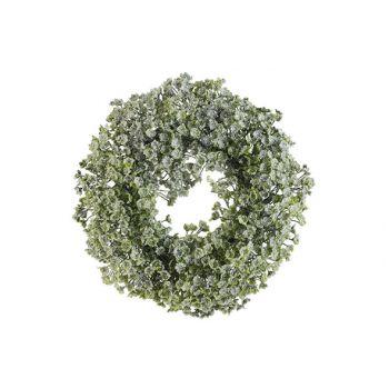 Cosy @ Home Krans Honey Snow Groen D20xh4,5cm Pe