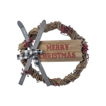Cosy @ Home Krans Skis - Merry Christmas Multi-kleur