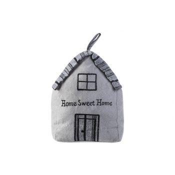 Cosy @ Home Deurstop Home Sweet Home Grijs 16x12xh22