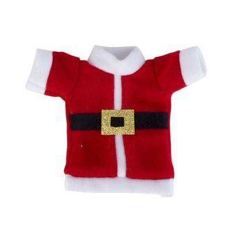 Cosy @ Home Bestekzakje Santa Costume Rood Wit 10x1x