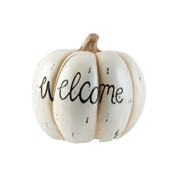 Cosy @ Home Pompoen Welcome Creme 29x29xh27cm Resin