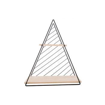 Cosy @ Home Decorek Triangle Zwart D60 37,5x11xh42cm